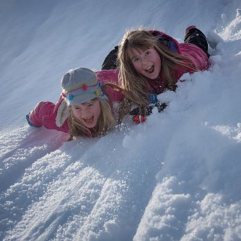 actividades con niños en la nieve en Madrid